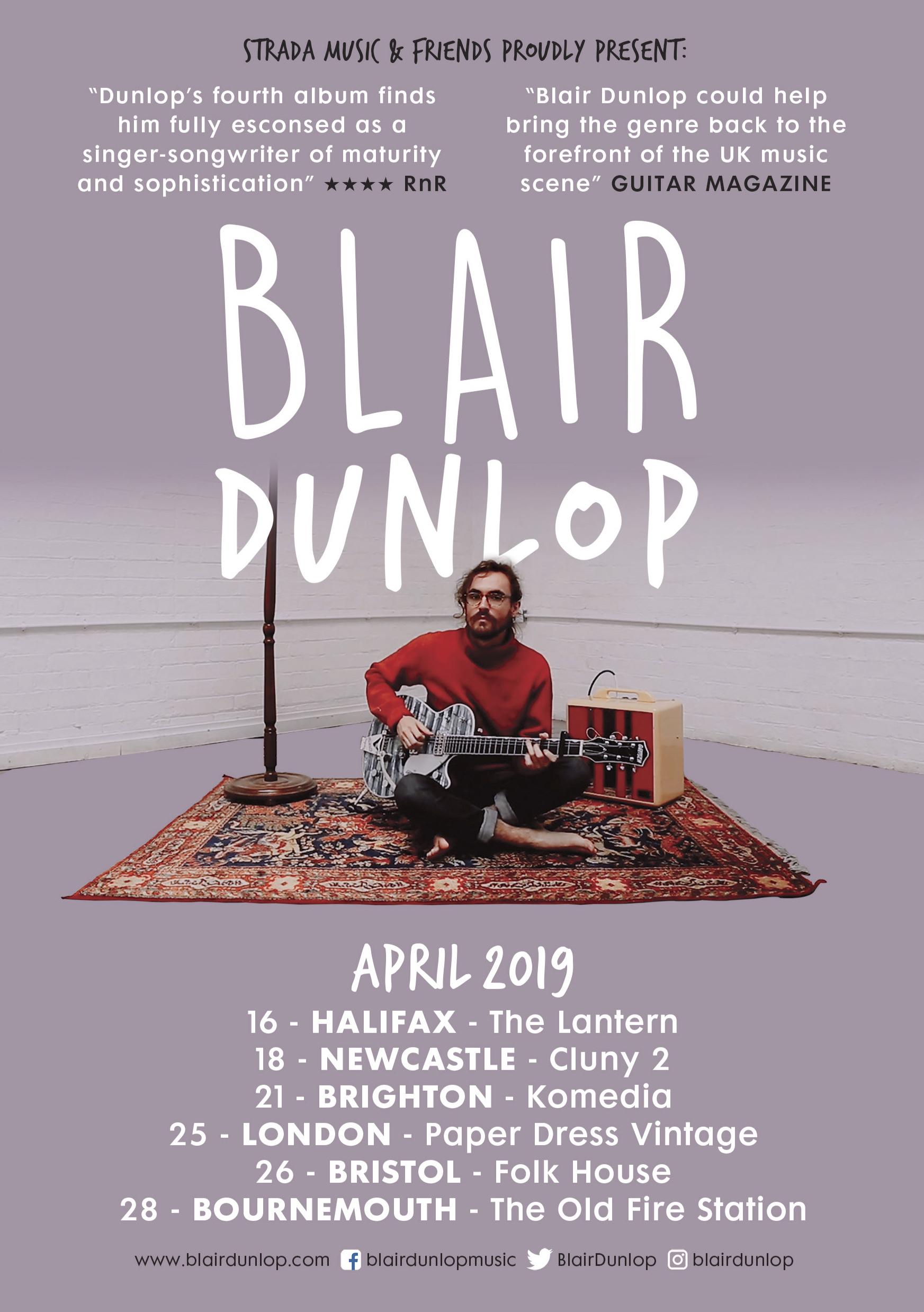 Blair Dunlop Poster A5